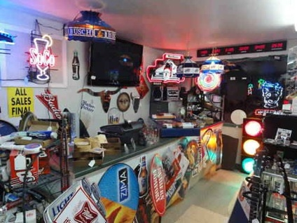 various collectibles for sale on display