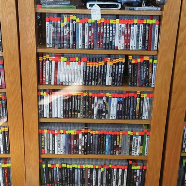 video games for sale in a case