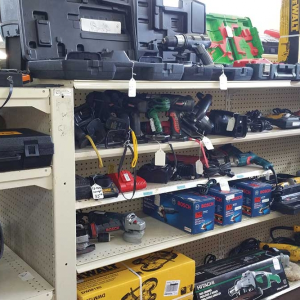 power tools for sale on display